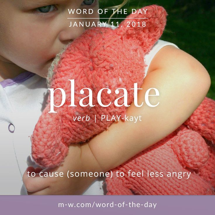 Today's #wordoftheday is 'placate' . #language #merriamwebster #dictionary