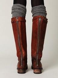 so cuteKnee High, Legs Warmers, Tall Boots, Leather Boots, Knee Socks, Riding Boots, Fall Boots, Boots Socks, Brown Boots