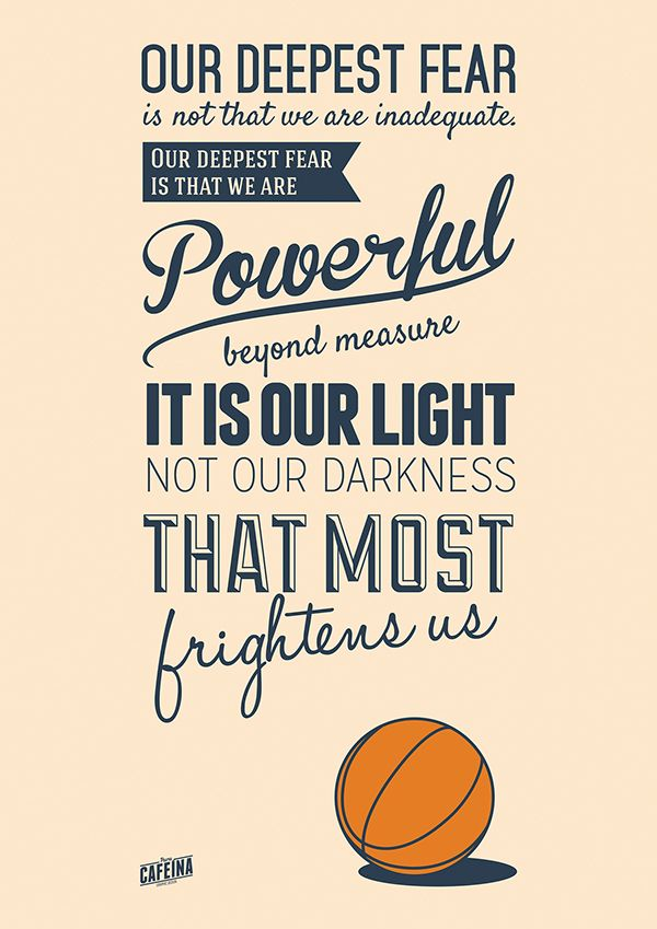 coach carter quote our deepest fear - Pesquisa Google