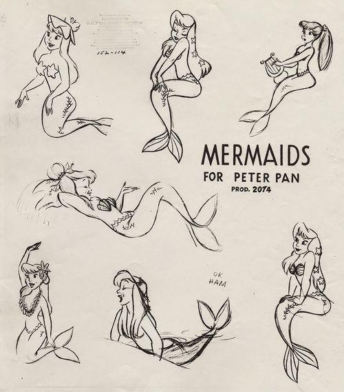 Mermaids for Peter Pan.