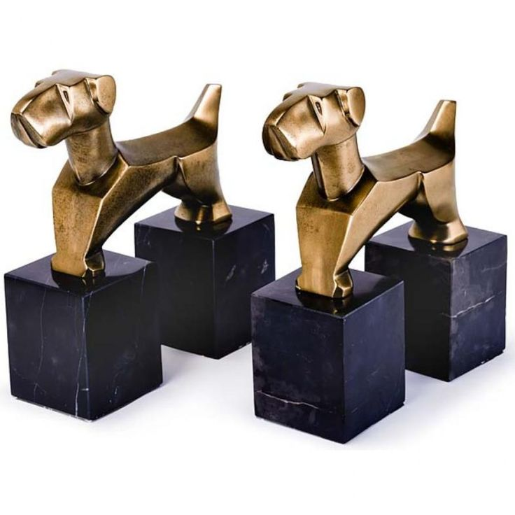 Pair of Terriers Book Ends