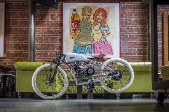 Bicicleta motorizada boardtracker inspirado por ImperialCyclesSJ