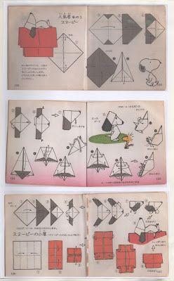 MARIA DOBRADURA: Origami snoopy