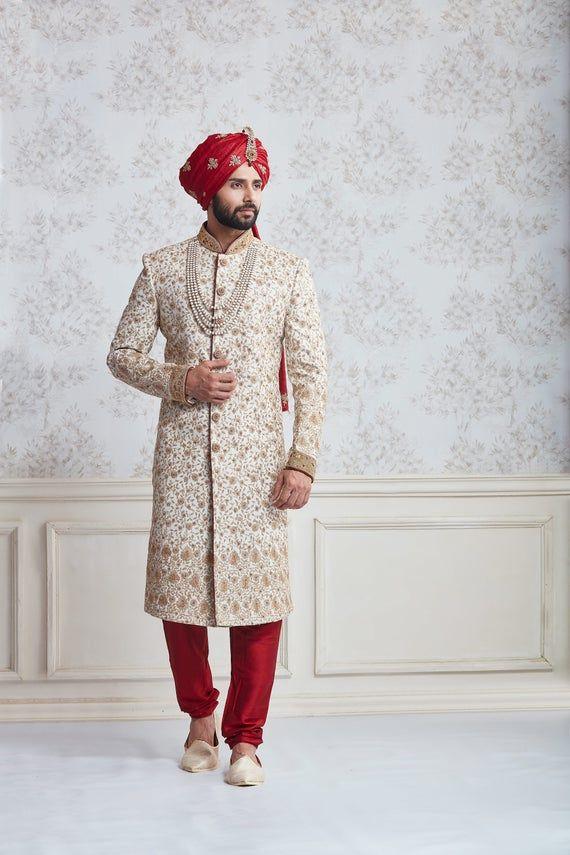Indian Wedding Sherwani,wedding sherwani for groom,sherwani for groom wedding,mens wedding wear,Indian ethnic mens wear