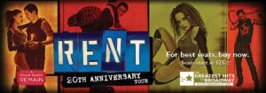 http://triangleartsandentertainment.org/wp-content/uploads/2016/09/RentIMAGE-DPAC2016-300x105.jpg - The Rent 20th Anniversary Tour at DPAC Proves This Powerful Show Has Still Got It... - The Durham Performing Arts Center will present Rent, Jonathan Larson's brilliant reimagining of Puccini's La Bohème, on Oct. 11-16 Since its humble, off-Broadway beginnings 20 years ago, the beloved musical, Rent, with book, music, and lyrics by Jonathan Larson, has only grown in