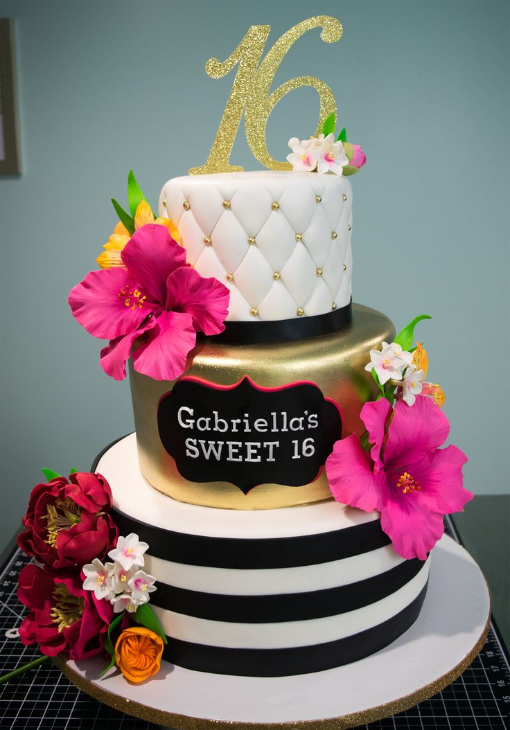 Kate Spade Tropical Sweet Sixteen Cake Bolos Em 2019