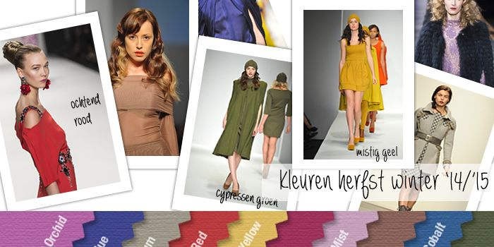 Het is nog wat vroeg, maar  welke mode kleuren er deze herfst en winter 2014 – 2015 in de kledingwinkels zullen hangen, is al lang bekend. Deze kleuren zul je veel zien dit najaar.