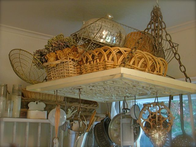 Hanging pot rack (from My Petite Maison)