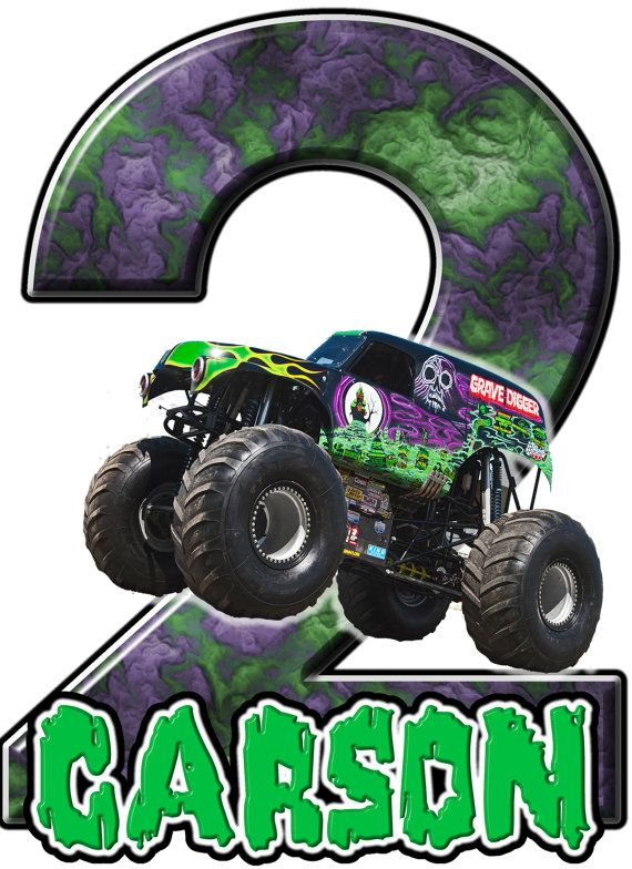 Monster Truck Grave Digger Birthday Party T By