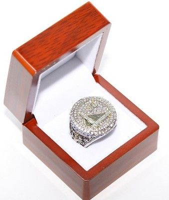 New with or without wooden box. 2015 Golden State Warriors Championship ring.
