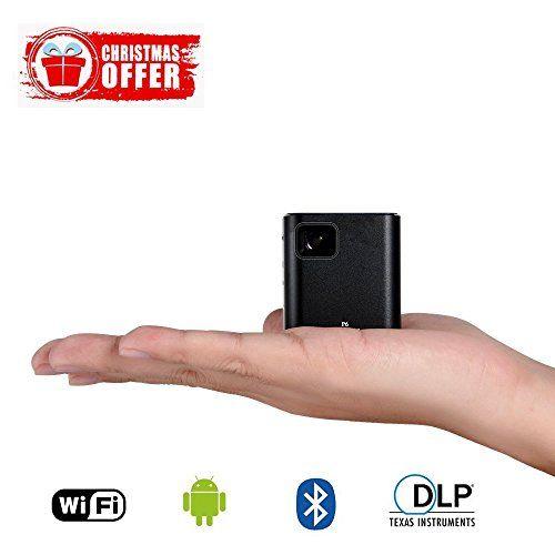 Mini Vidéoprojecteur Portable, LESHP Vidéoprojecteur Batterie 1000mAh HDMI1000 Lumens Avec Correction Automatique Keystone, Full HD Pico Projecteur DLP Wi-Fi (24)