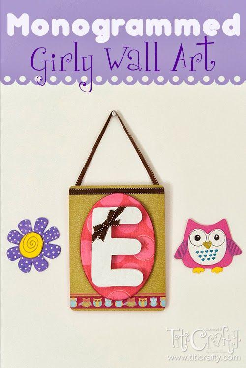Girly Diy Acrylic Nail Designs: Mod Podge Monogrammed DIY Girly Wall Art