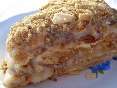 Торт «Пломбир» - очень нежный десерт, который покорит каждого, кто его попробует.
