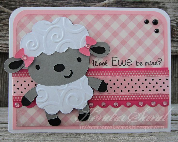 Cricut Card Making Ideas Part - 45: Create A Critter Cricut Lamb Card - Luv 2 Scrap Nu0027 Make Cards: CAC 1