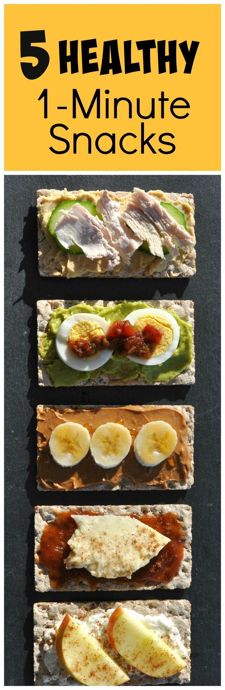 5 Healthy Snack options that are ready in 1 Minute (or less)!