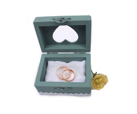 RING BOX with Pillow jewelry box WEDDING box pastel by PilipArt, $24.00