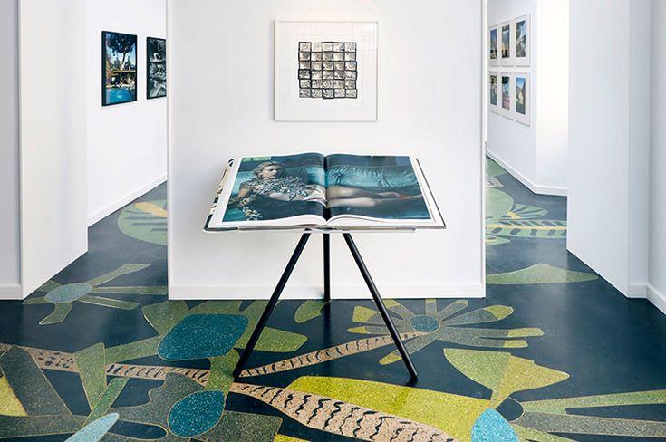 Venetian terrazzo floor designed by Jonas Wood, Taschen store, Milan