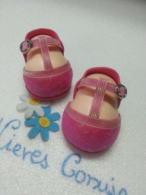 Zapatos fofucha rosa