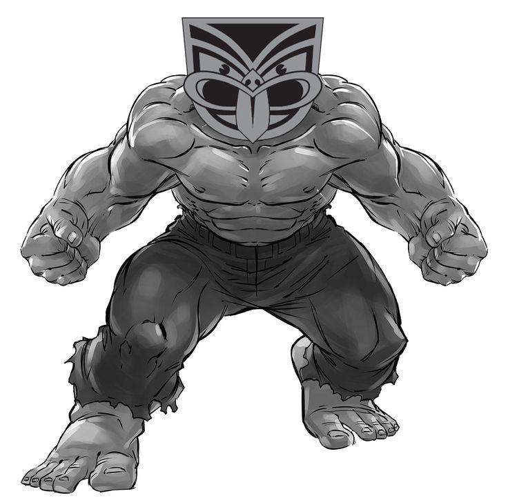 Super Tiki #Tiki #Hulk #SuperHero #Comic #Artwork #WarriorsForever #GreyHulk #WarriorsArt