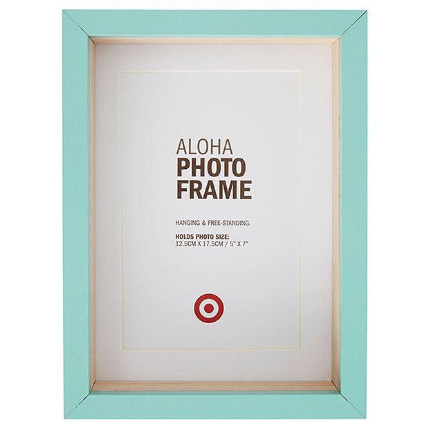Aloha Photo Frame - 12.5 x 17.5cm - Blue   Target Australia