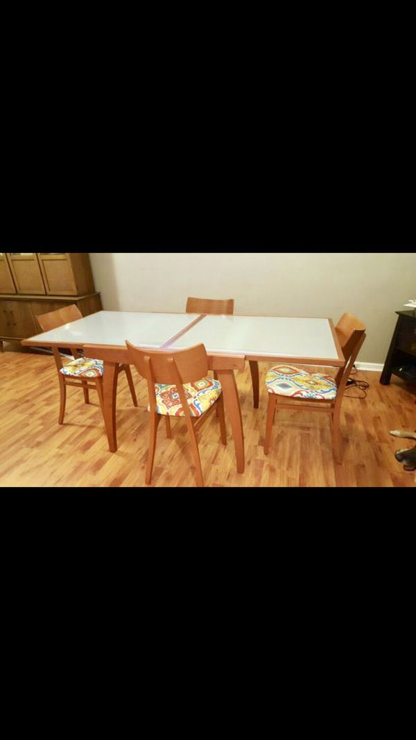 Mid Century Modern Dining Table And Chairs For Sale In Fort
