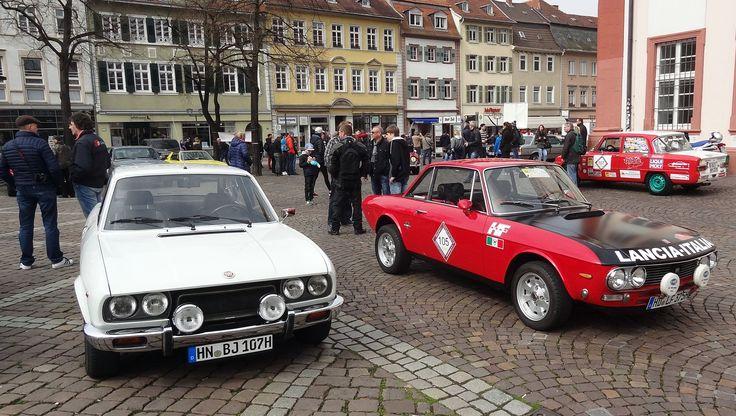 Heidelberg University. Oldtimer Rallye starting place