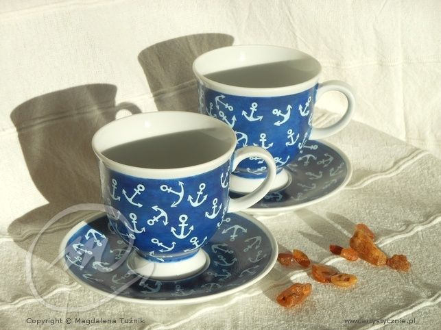 Filiżanki w kotwice - cup in the anchors