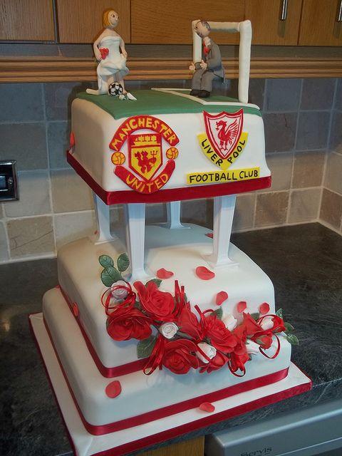 Football Wedding Cake by Dawnie's cakes, via Flickr