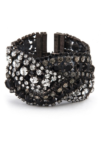 Elizabeth Cole - Triple Black Diamond Bracelet....someday!