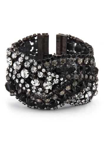 Elizabeth Cole Triple Black Diamond Bracelet