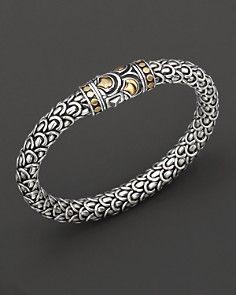 Naga collection, a woven chain bracelet, designed by John Hardy. 18 Kt. gold/sterling silver.  #mens, #bracelet, #jewellery