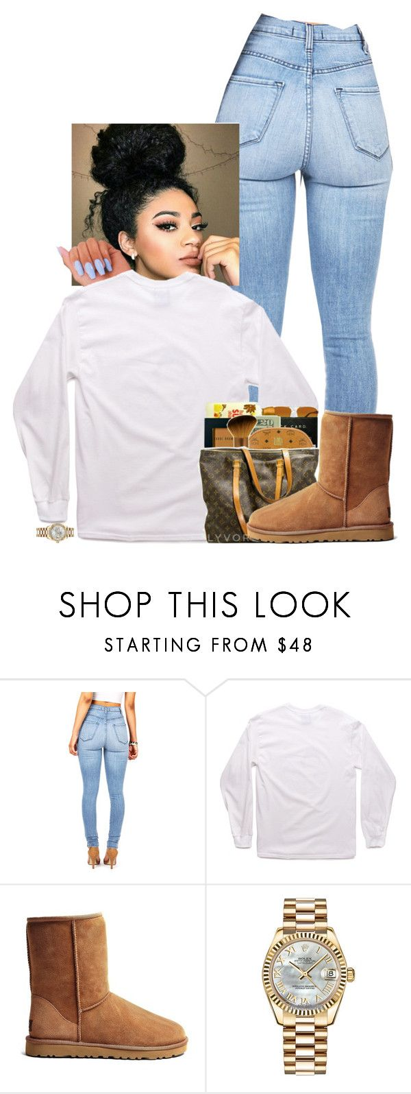 """""""Untitled #53"""" by drakexlover ❤ liked on Polyvore featuring UGG Australia and Rolex"""