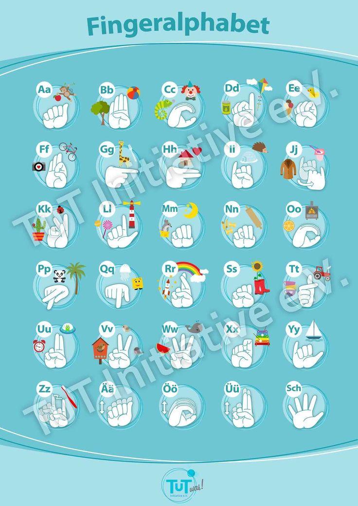 Kinder-ABC auf Deutsche Gebärdensprache