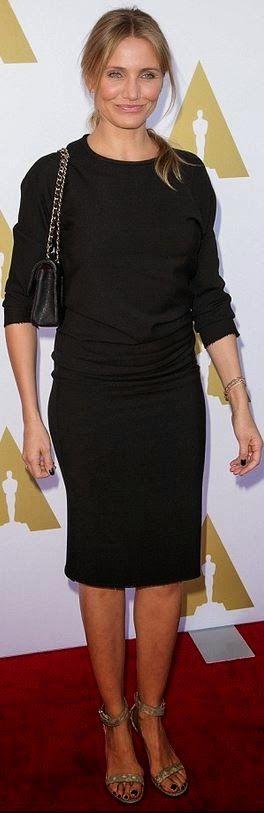 Cameron Diaz ve Sade Siyah Elbise Şıklığı