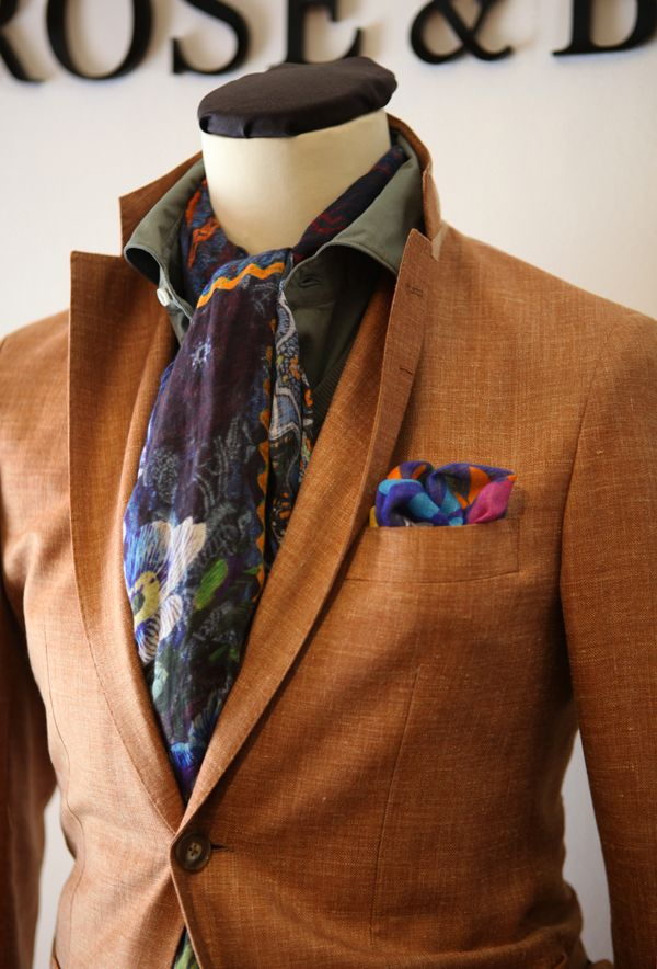 A Curated Man. Nice color combination.