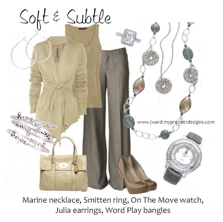 Premier Designs 2014 - Marine necklace, Julia earrings, Word Play bangles, On The Move watch, Smitten ring
