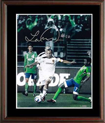 Landon Donovan Signed UDA Framed Photo-16x20 >>> Details can be found by clicking on the image.