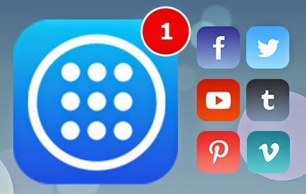 Quick links to popular websites like Facebook Twitter, Youtube, Tumblr, Pinterest, Vimeo, Flickr, Instagram Web Viewer, Behance, Deviantart, Maps, Gmail, Games, Spotify, Weather....