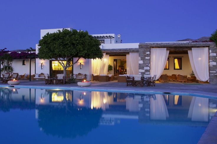 Yria Hotel - Paros, Greece A cluster of lush,...   Luxury Accommodations