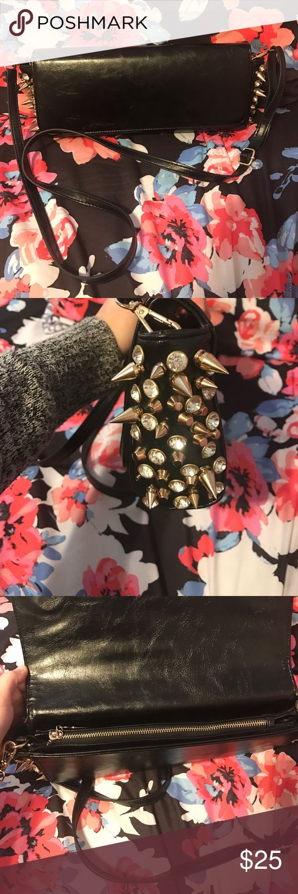 Cute spiked handbag Shoulder strap is removable to use as a clutch as well. No brand name listed purchased from a boutique. This is new never used Zara Bags