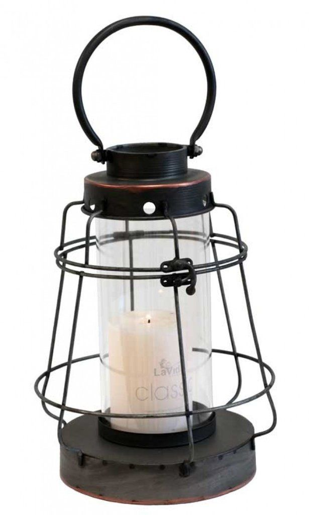 Rustic Lantern Hurricane Candle Holder
