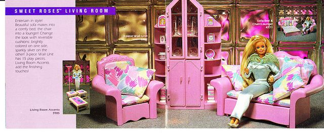 Barbie Sweet Roses furniture - I had this furniture to go in my Barbie Townhouse!!