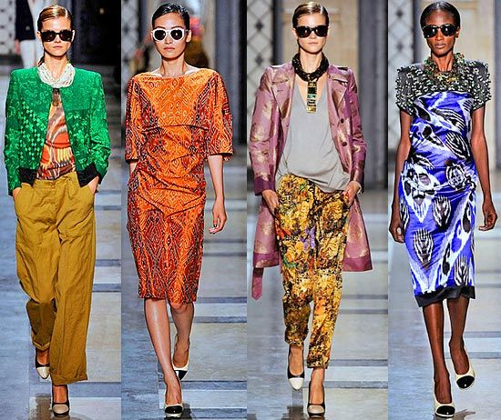 Утончённая женственность и клетчатые рубашки Курта Кобейна в коллекции весна-лето 2013 бельгийской марки Dries van Noten