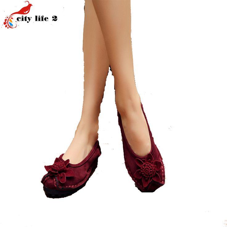 Бархатные Туфли Повседневная Обувь Комфорт Матери 2016 Новый Осень Плоским Цветок Лодыжки Обувь Элегантных Женщин Размер 40 3 Цвета