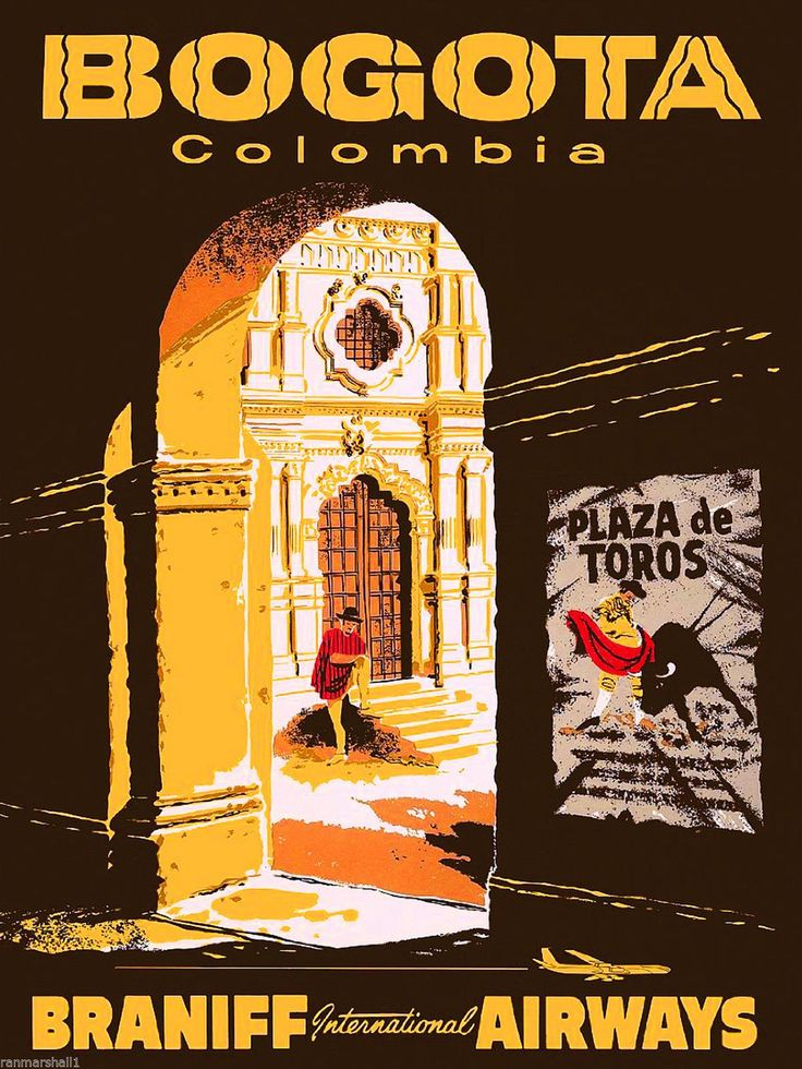 Bogota Colombia South America American Vintage Travel Advertisement Poster