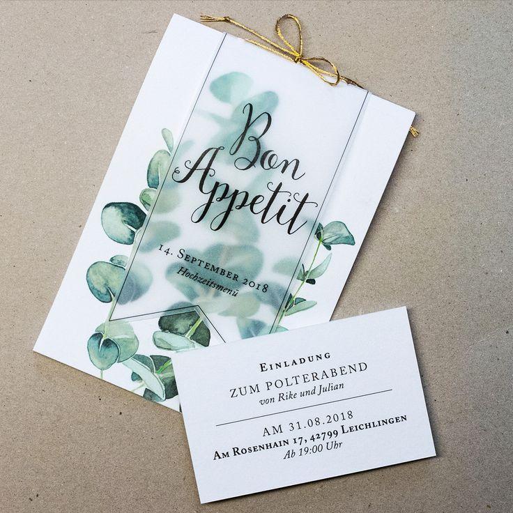 Wedding invitation | Greenery | Eucalyptus | Fanfare Paper Goods