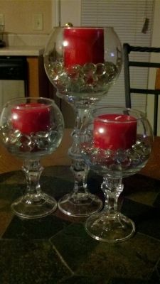 3 Set Centerpieces  $22-love this-also with chapagne colored candles
