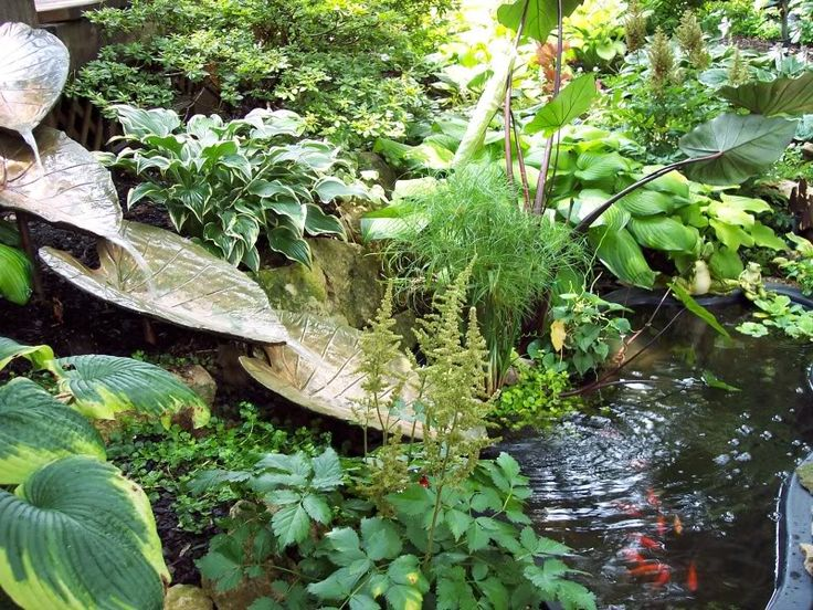 homemade fountains on water garden tour today