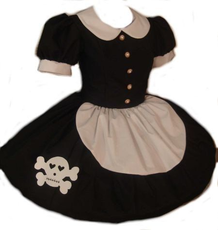 d9a8d0730c4 Gothic Rag Doll Dress Lolita with Cute Skull Black and White Goth Loli  Cosplay Costume Custom Size Made to Measure including Plus Siz…