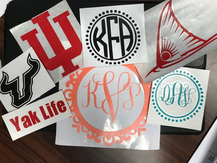 Yeti Monogram Decal - Custom Vinyl Decal - RTIC Decal - Tumbler Sticker - Laptop Sticker - Car Decal - Yeti Sticker - Personalized Sticker by JLCraftsCreations on Etsy